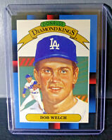 1988 Bob Welch Donruss Diamond Kings #24 Baseball Card