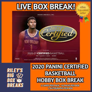 🔥🏀20-21 PANINI CERTIFIED BASKETBALL BOX BREAK #115 - PICK YOUR OWN TEAM!