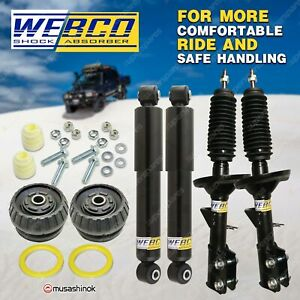 Front Rear Shock Absorbers + Strut Mount Bearing Kit for Holden Commodore VZ
