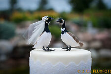 Canada Goose Wedding Cake Topper: Bride & Groom Love Bird Cake Topper