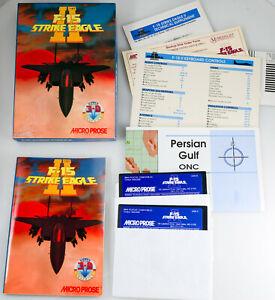 "Microprose F-15 Strike Eagle II 1989 PC Combat Flight Simulator 5"" floppy Disks"