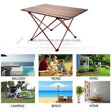 S Size Aluminium Roll-up Folding Table & Bag Outdoor Camping Caravan Picnic BBQ