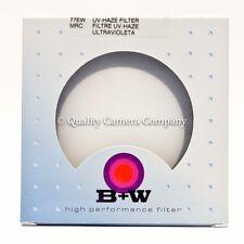 B+W 77mm UV Haze Extra Wide MRC 010M Filter #66-040297 NOS