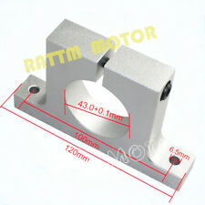43mm Spindle Motor Aluminium Mount Clamp Bracket Holder Euro Neck For CNC Router