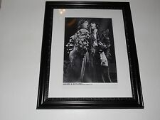 "Large Framed Mick Jagger / Keith Richards 1976 Germany Rolling Stones 24"" x 20"""