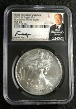 2020 W Eagle S$1 Burnished Silver Eagle Mint Director's Series