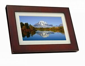 """GiiNii SPF3403/G7 10""""Digital Picture Frames Brown/Black with White Mat"""