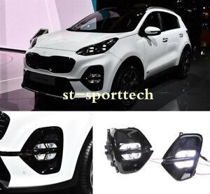 FIT FOR Kia Sportage KX5 2020  LED DRL Daytime Running Light/Front Fog Lights