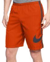 Nike Men's Workout Soccer Football GPX Side Stripe Orange Shorts SZ S L M XL 2XL