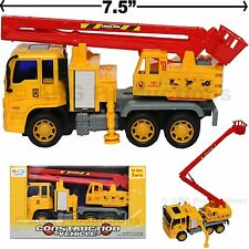 CRANE TRUCK TOY CONSTRUCTION VEHICLE FRICTION POWERED KIDS LOVE THEM!