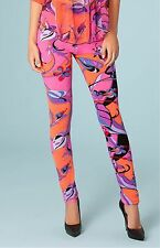 Hale Bob Floral Printed Stretch Jersey Leggings XS NWT 3MEN8097 *