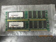 (2) Kingston 512gb Pc-2100 266mhz 184 pin Ddr desktop Dell memory(total 1gb)Used