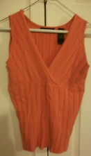 Women Axcess Liz Claiborne Company Coral Knit Tank Top XL