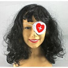 Nurse Costume Eye Patch Bill Kill Inspired Dayrl White With Red Cross CLOSEOUT