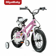 RoyalBaby Kids Bike Boys Girls Freestyle Bike 16 Inch with Training Wheels Pink