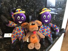 "3 Plushes Henry Octopus Talking The Wiggles Wags The Dog 8""  Plush Spin Master"