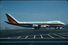 ZRH19  Original aircraft slide/Dia  Kalitta B747 N701CK - Kodachrome
