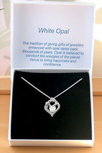 Sterling Silver White Opal Mother & Baby Necklace/Baby Pendant/New Mother/UK