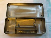 Vintage Metal Tin Containing Medical Michel Wound Staples And Forceps