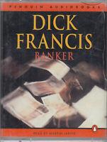 Dick Francis Banker 2 Cassette Audio Book Abridged Thriller Martin Jarvis