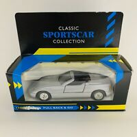 Classic Sportscar Collection Diecast BMW Z1 Model Car Pull & Go Action Rare