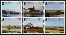 More details for falkland islands 2021 mnh landscapes stamps mike peake pt ii settlements 6v set