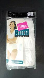 Vintage Hanes Her Way 100% Cotton Briefs Size 7 (40-41) 1999 New White