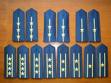 07's series China PLA Air Force Officers Soft Shoulder Boards,7 Pair,Set