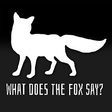 What Does the Fox Say? YouTube Ellen Funny Song Decal Sticker