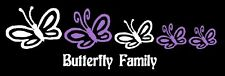 Butterfly Family Car Decal Sticker Custom Personalized
