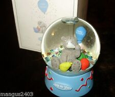 ME TO YOU RARE SPECIAL LITTLE BOY SNOW WATER GLOBE BOXED HAPPY BITHDAY GIFT