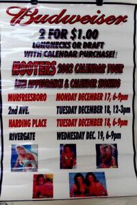 2002 SeXy Hooters Girl Calendar Bikini Tour Laminated Poster Budweiser Beer