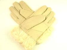 Gants et moufles beiges en cuir pour femme