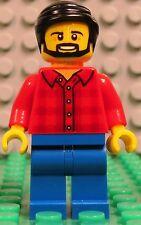 Lego City 60134 Fun in the Park red plaid shirt DAD male man w/ beard minifigure