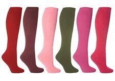 6 Pairs Ladies Genuine Thermal Winter Warm Heat Holders Socks Size 4 - 8 UK Wine