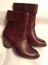 New🌹CLARKS🌹Size 7 MELISSA HOLLY MID BROWN LEATHER ANKLE ZIP BOOTS SHOES 41EU