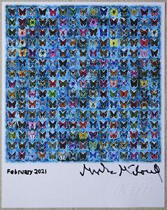 Blotter art Butterflies Mark McCloud signed pihkal tihkal Rafti