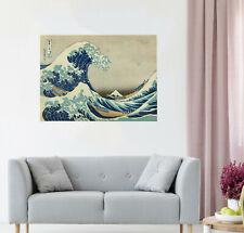 """Japan big Wave Tsunami 24"""" Framed Canvas Vintage painting art print  old"""