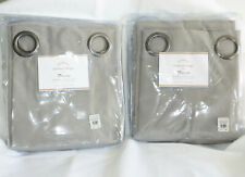 S/2 Pottery Barn Sunbrella Solid Outdoor Grommet Curtain 50 x 84 Cadet Gray New