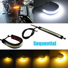 Sequential Switchback Flowing LED Fork Turn Signal Daytime Lights For Motorcycle