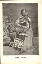 Rome Roma - Native Woman in Costume Ciociara c1905 Postcard