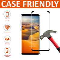For Samsung Galaxy S8 100% PURE -Full 5D Tempered Glass Screen Protector Black