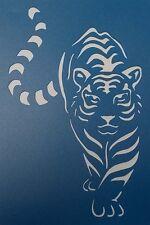 Scrapbooking - STENCILS TEMPLATES MASKS Sheet - Tiger Stencil 02