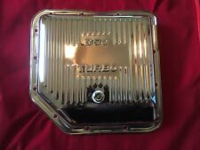 Gm Chevy Turbo 350 Chrome Automatic Transmission Pan Stock High Capacity Th350