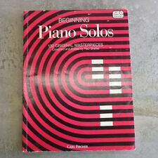 Beginning Piano Solos 132 Songs Carl Fischer Number 101 1984 159 pg PreOwned