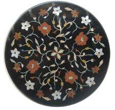 "23"" Marble Coffee Table Pietra Dura Handicraft Work art furniture home decor"