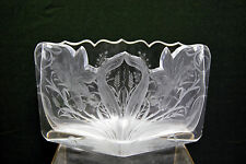 ANTIQUE Moser Karlsbad clear intaglio vase Bohemian glass 19th century
