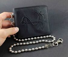 Anchor Mens Leather Punk Hip Hop Wallet Purse With Chain Boys Gift