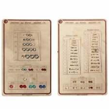 Lot (2) vintage Czech rhinestone sample cards