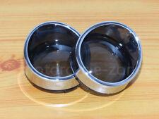 Turn Signal Lens Cover Visor Ring For Harley Dyna Softail Sportster Chrome&Smoke